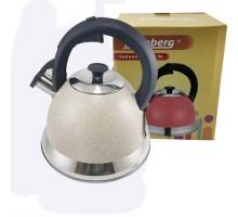 чайник нерж 3л А-031G-3.0 Flamberg Светло серый