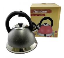 чайник нерж 3л А-031G-3.0 Flamberg Красный