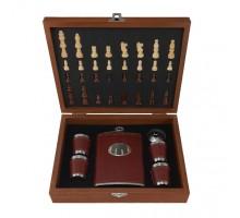 подарочный набор (шахматы с флягой) арт 0-50