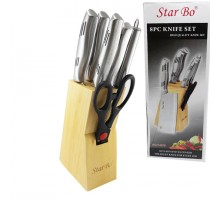 набор ножей 7ед на деревянной подставке