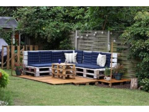 Садовая мебель своими руками из подручных материалов