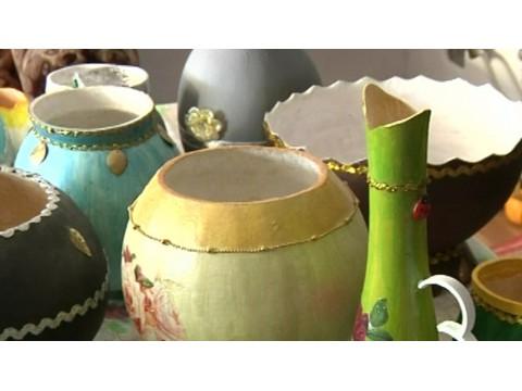 «Фея» из Осетии превращает тыквы в посуду