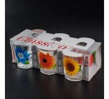 набор стаканов 250 мл У коллекция цветов арт 05с1249